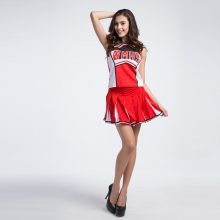 WMHS Sexy High School Cheerleader Costume Girl Baseball aerobics dance Cheer Girls DS Uniform Party Outfit Tops and Skirt