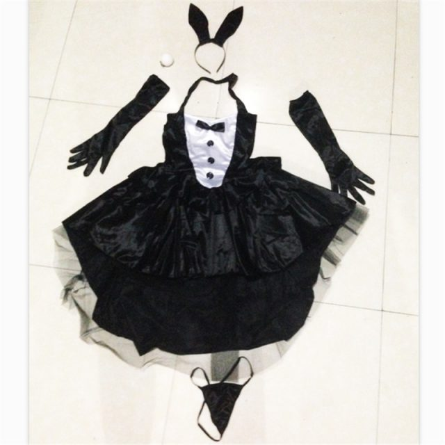 Bunny Girl Rabbit Costumes Sexy Halloween Costume for women Adult AnimalCosplay Fancy Dress Clubwear Party Wear Women  Plus Size