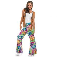 Men/ Women 60s/70s Retro Hippie Groovy Dancing Groovy Hippy Disco Fancy Dress Up Costume Bellbottoms Masquerade Party Costumes