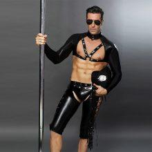 Men Sexy Costumes Hot Erotic Sexy Police Officer Cosplay Costume Fancy PVC Cops Dress Men Halloween Costume Police Uniforms 6616