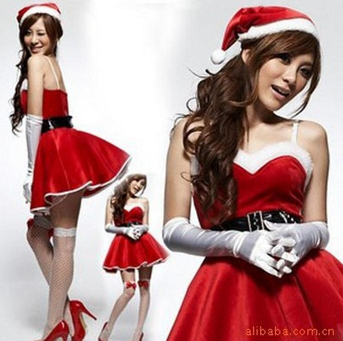 Sexy Santa costumes For Women Christmas Costumes Cosplay Fancy Dress Lingerie For Sex Cheerleader Uniforms Temptation WL151