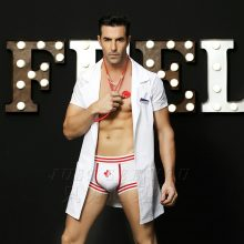 6602 New Brand High Quality Men Doctor Costume Halloween Attending Masquerade Male Physician Clothing Doctor Cosplay Cloth Sets