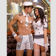 Adult Men Sexy Sailor Costume Hot Erotic Sexy Slim Fit White Seaman Uniform Carnival Festival Halloween Male Costumes 9803