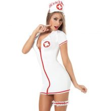 plus size sexy teddy nurse costume uniform white with leg belt SM Cosplay sexy costumes erotic dress adult sexy lingerie