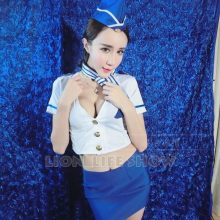 Cheap Sexy Sailor uniforms  flight attendant Japanese Student Stewardess Cosplay Costume
