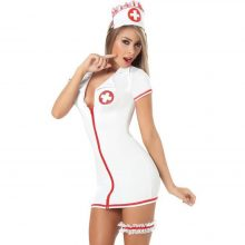 Sexy Nurse Costume Women Sexy Nurse Cosplay Lingerie Uniform Role Play Sexy Lingerie Babdydoll Dress Erotic Costumes Halloween