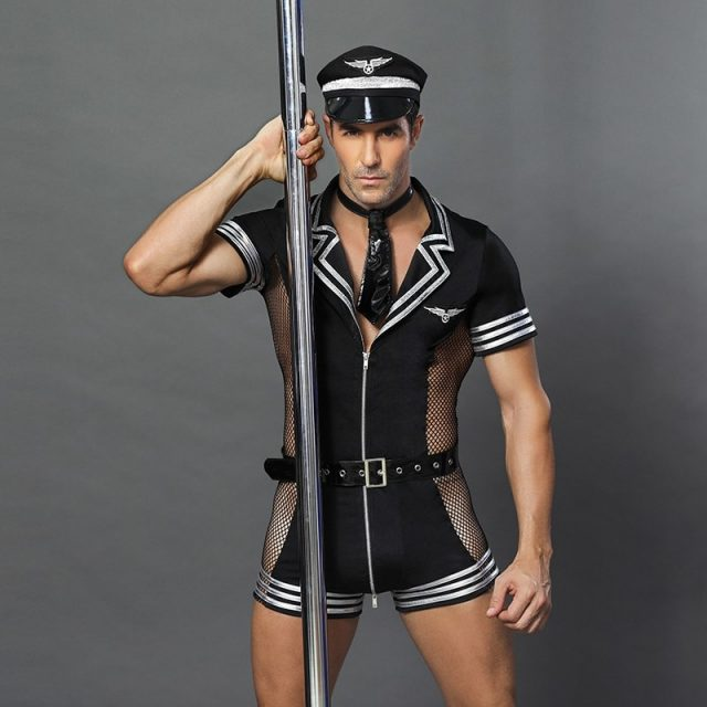 Halloween Costumes Adult America U.S. Police Dirty Cops Officer Costumes Top Shirt Fancy Cosplay Clothing for Men 6609