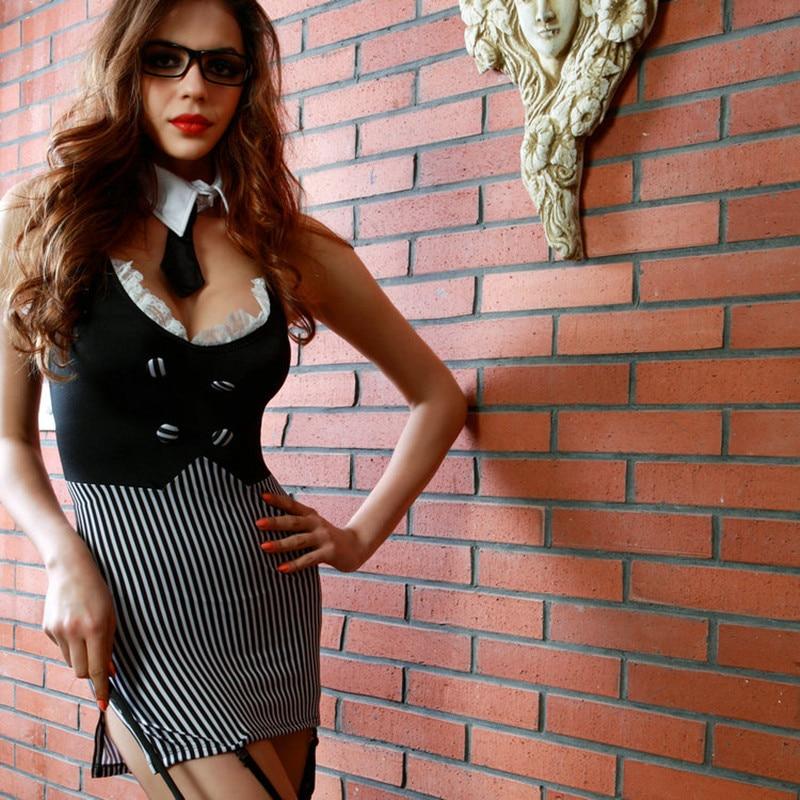 Sexy Teacher Uniform Erotic Halloween Costumes Fancy Secretary Dress Naughty Party Seductive School Teacher Cosplay Costume 8813