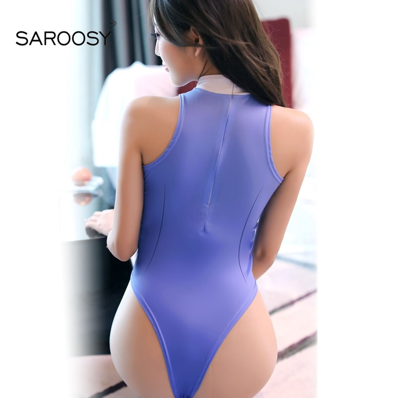 SAROOSY 2018 New Sexy Office Costumes Open Crotch Bodysuit for Women Lolita Kawaii Style Erotic Lingerie Swimwear Cosplay