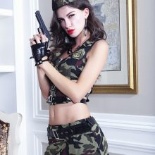 2017 New Camouflage Suit Sexy Perspective Camouflage Army Costumes Sex Cosplay Role-playing Fun Police Underwear Uniforms