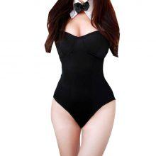 Sex Women Rabbit Lingerie Girl Deep V Underwear Lady Bodydoll Serotic Sleepwear Nightwear Uniform Temptation Jumpsuits