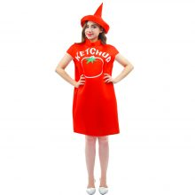 2018 New customized free size tomato ketchup Costume spicy mustard Costume  With Hat top costumes Halloween Couples costumes