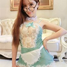 Hot Sexy Miniskirt Lolita Maid Outfit Lace fishnet Lovely Lady Uniform temptation sexy costumes porn Adult Sex Games erotic