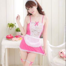 Sexy Miniskirt Lolita Maid Outfit Lace Fishnet Lovely Lady Uniform Temptation Costumes Sex Games Erotic