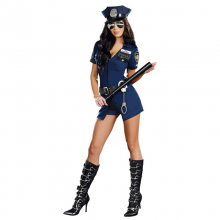 Blue Short Sleeve Hat Female Police Suitput Your Hands Up Cop Costume Sexy Costumes Sheriff Uniforms