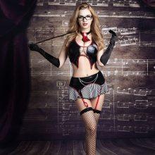 Sexy Teacher Role Play Dress Erotic Halloween Costumes Women Sexy Lingerie Erotic Seductive School Teacher Cosplay Costumes 9721