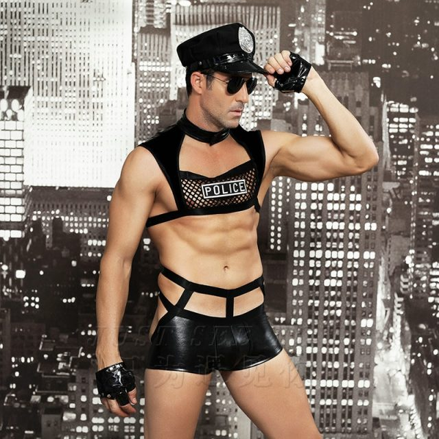 Men Sexy Costumes Hot Erotic Sexy Police Officer Cosplay Costume Fancy Cops Dress Men Halloween Costume Police Uniforms 6603