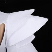 2017 new bar DJ sexy nightclub singer dance clothing fashion shoulder one piece white costume for lady
