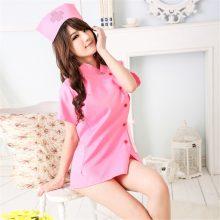 Women Hot Erotic Costumes Role Play Nurse Uniform Sexy Erotic Lingerie Sex Products Underwear Hat+Nurse dress lingerie pink