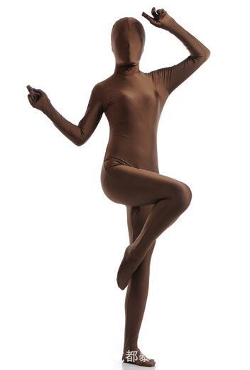Sexy Lycra Spandex Zentai Full Body Suit Blinded Long Sleeve Bodysuit Jumpsuit Men Women Catsuit Halloween Zentai Costume