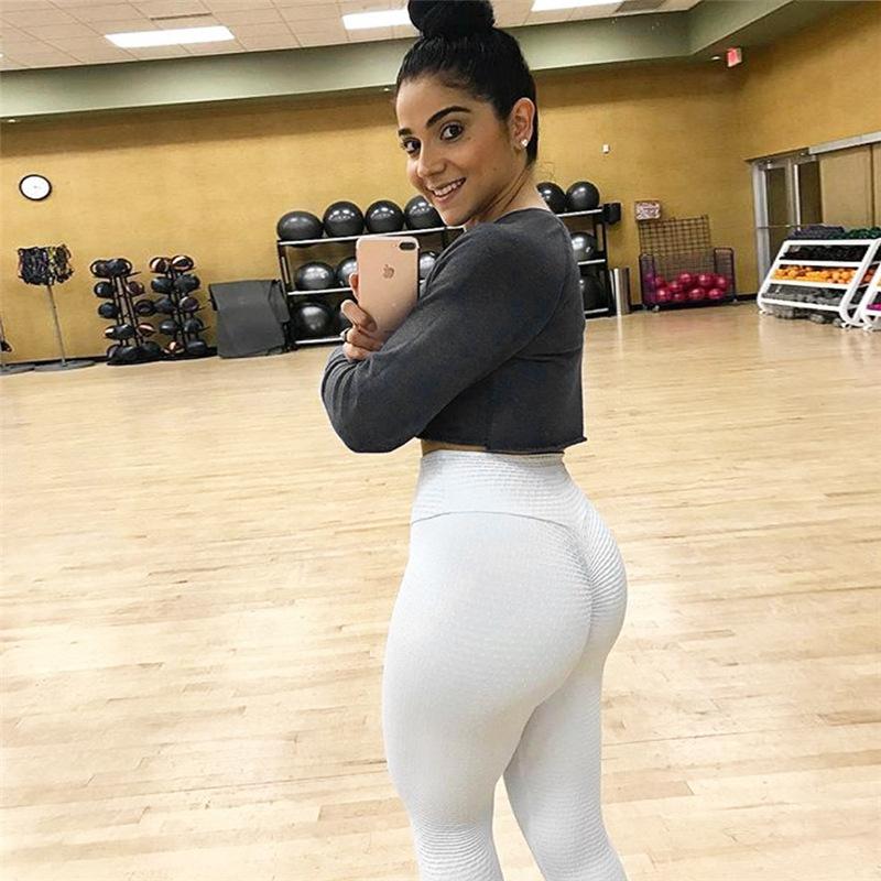 Ruching push up leggings for fitness clothing 2018 bodybuilding sexy legging sportswear athleisure black women's pants