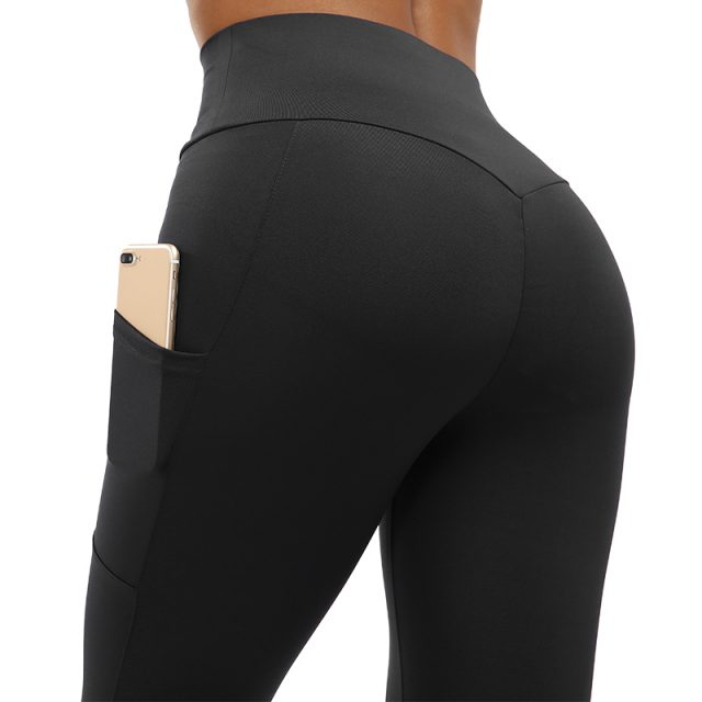 NORMOV High Waist Fitness Leggings Women Push Up Workout Legging with Pockets Patchwork Leggins Pants Women Fitness Clothing