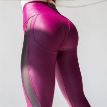 Spandex Leggings Fitness Elastic Push Up Legging Pants Mesh Female Pink Workout Plus Size