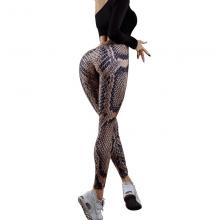Printing Fitness Leggings Polyester Ankle-length Pants Snake Skin Push Up Keep Slim Legging