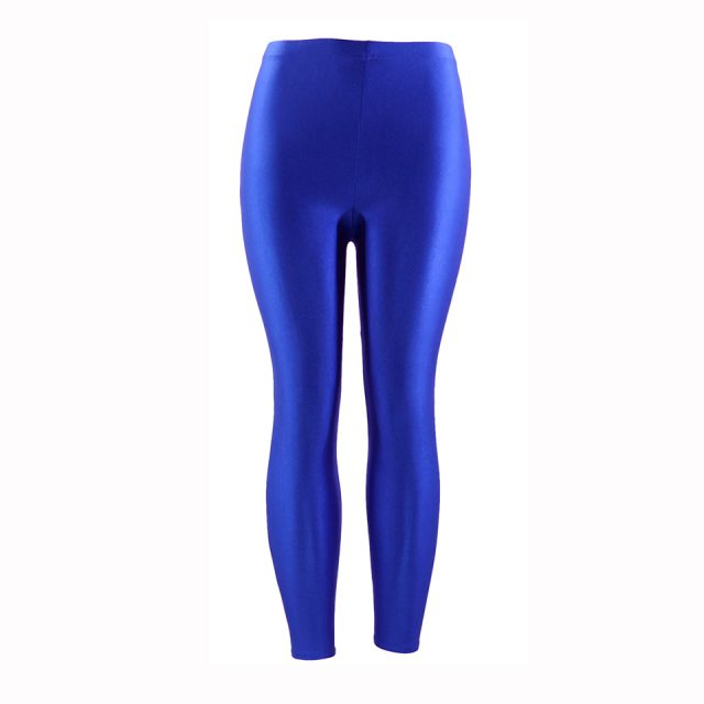 21 Colors Plus Size Fluorescent Color Women Leggings Elastic Leggings  Spandex Multicolor Shiny Glossy Leggins Trousers For Girl