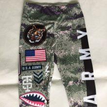 Women Army Printed Leggings Elastic Fitness High Rise Waist Girls Leggins Global Drop Shipping Leggings