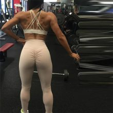 Sexy Push Up Leggings High Waist Workout Pants Mujer Wrinkle Fitness 8 Color