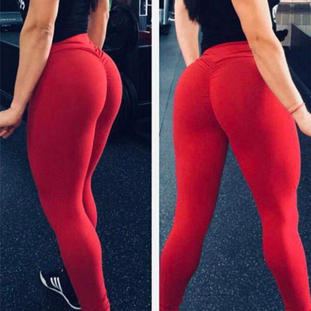 Kaminsky Sexy Push Up Women Leggings High Waist Workout Casual Pants Mujer Fashion Wrinkle Sportswear Fitness Leggings 8 Color
