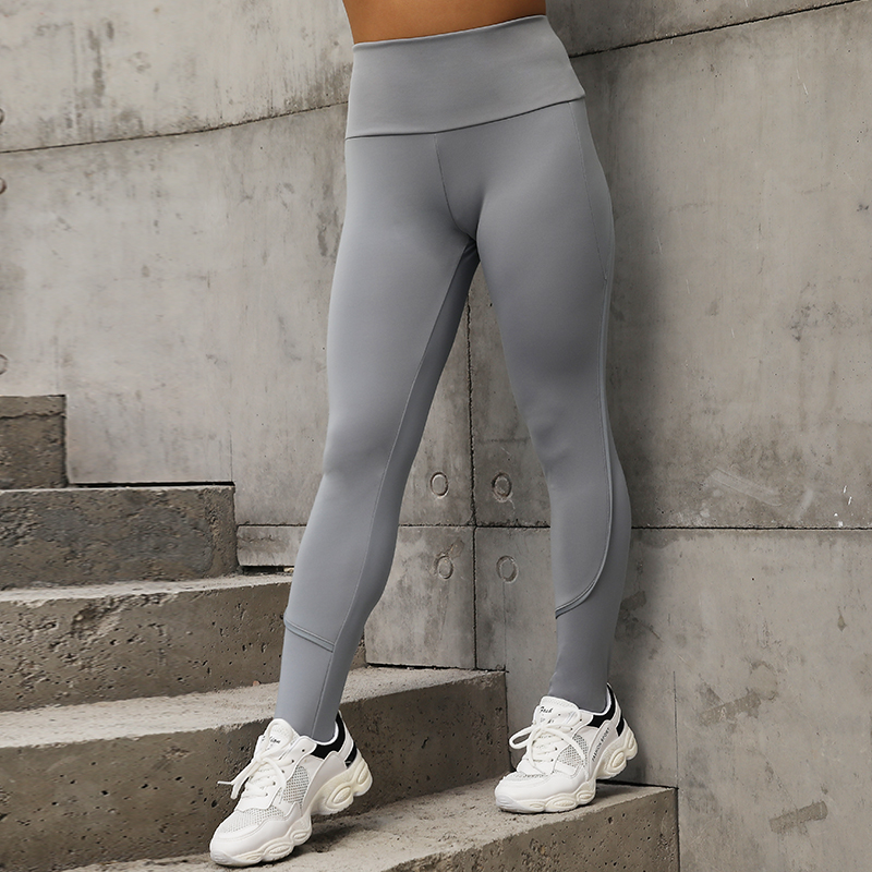 NORMOV Autumn Push Up Leggings Women Plus size Workout Leggins Pink Side Stripe Fitness Legging Sportswear Woman Clothes