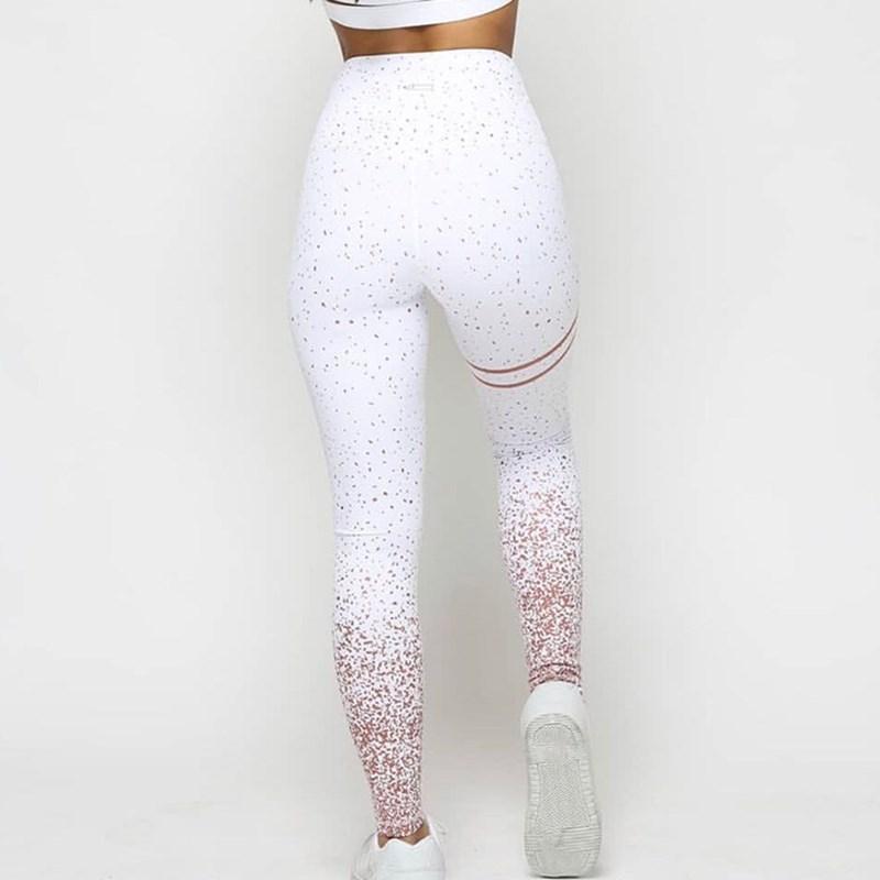 Women Pink Solid White Grey Bodycon Print Leggings Casual High Waist Women Sportwear Clothes Pink Slim Fitness Sporting Leggings