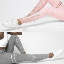 Women Pink Solid White Grey Bodycon Print Leggings Casual High Waist Women Sportwear Clothes Pink Slim Fitness Sporting Leggings