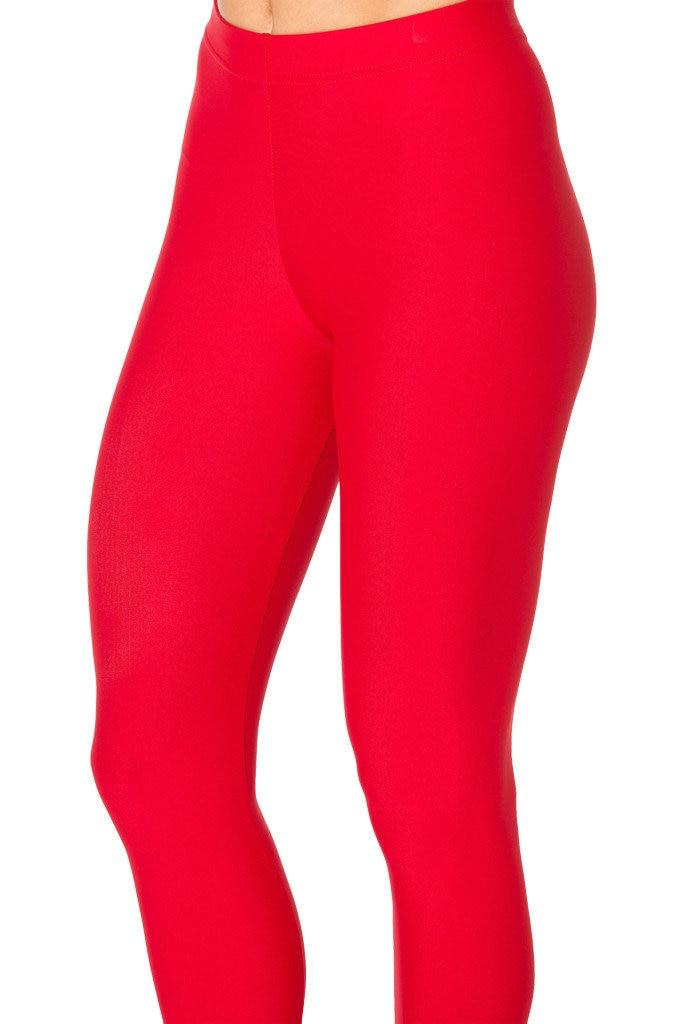 5 Pattern Plus Size Women solid Black Leggings Red Pink Blue Sky Blue Fitness Spring Pants
