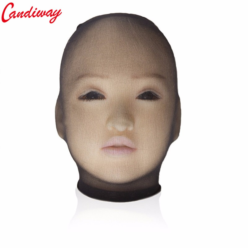 Sexy Nylon Stockings headgear silk Mask Headpiece Fetish Seduce Erotic BDSM Women Men Adult Game more sex fun Party Play