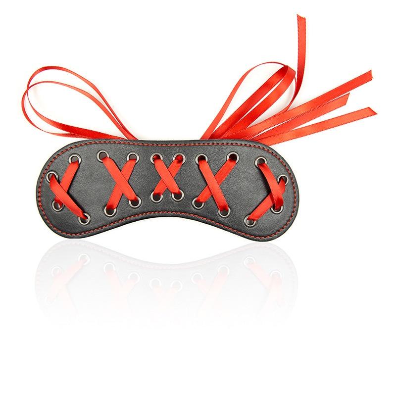 Erotic Costumes Leather SM Bondage Sex Eye Mask Blindfold Fetish Bdsm Party Women Masquerade Eye Masks Sex Toys For Adults