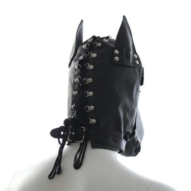 Pu Dog slave head Hood hoods Head bondage fully enclosed fun headgear masks adult  sex game for couples sex product open mouth