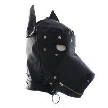 Pu Dog Slave Head Hood Hoods Bondage Fully Enclosed Fun Headgear Masks Sex Game Couples Product Open Mouth