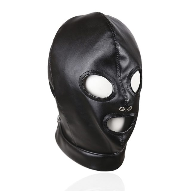 Fetish Hood Headgear PU Leather BDSM Bondage Breathable Sex Mask Hood Toys Adult Games Sex Product For Couples