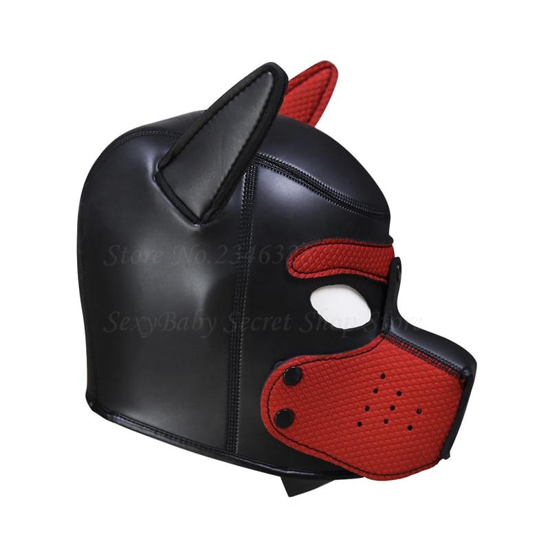 Cosplay Dog Headgear Totally Enclosed BDSM Mask Hood Fetish SM Bondage Slave Restraints Adult Games Sex Toys For Women Couples
