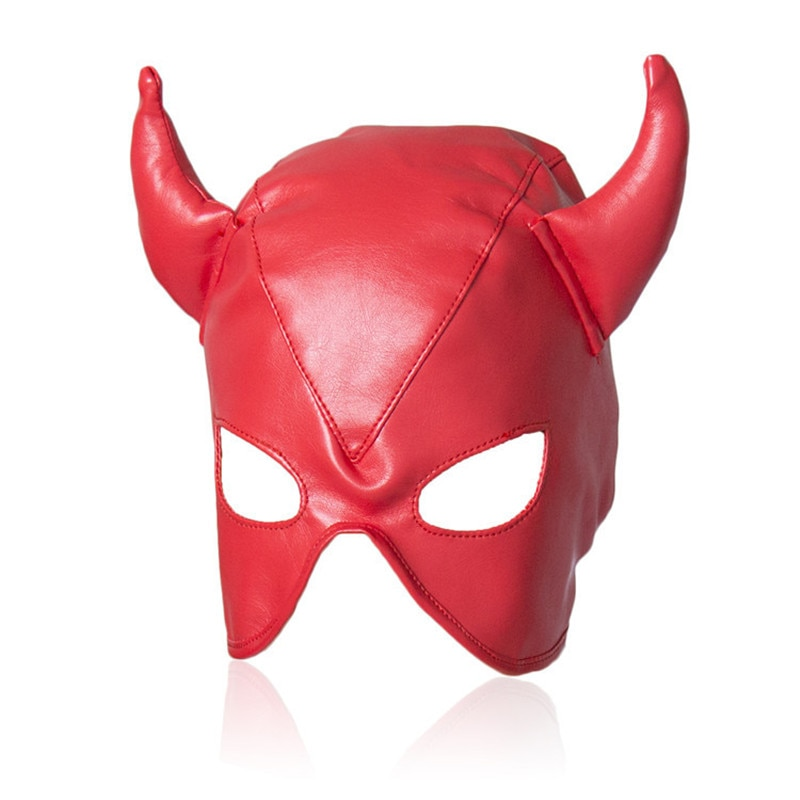 Sexy Mask Men and Women Adult Games Latex Faux Leather Animal bdsm Bondage Fetish Mask,Erotic Toys,Sex Toys For Couples,sex shop