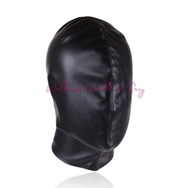 Pu Leather Slave Hood Full Head Bondage Headgear Restraints Fetish Harness Sex Mask Adult Game For Couples BDSM Sex Products