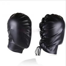 Pu Leather Slave Hood Full Head Bondage Headgear Restraints Fetish Harness Sex Mask Game Couples Bdsm Products