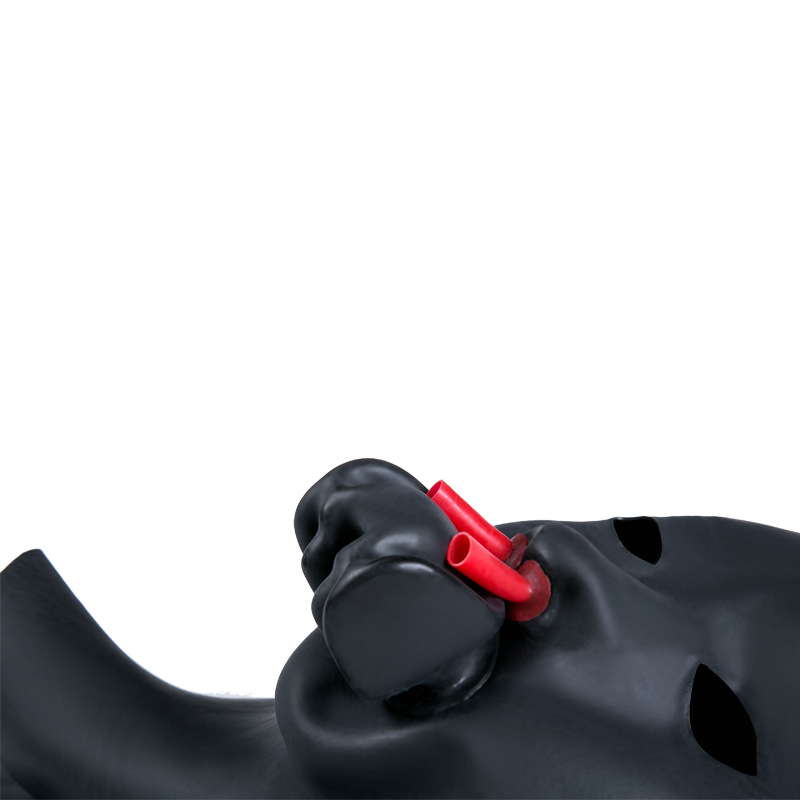 Latex Sex Mask Bondage Hood Adult Fetish Toys Bdsm Mask Zipper With Open Mouth Gag Sex Slave Adult Games Sex Toys For Couples