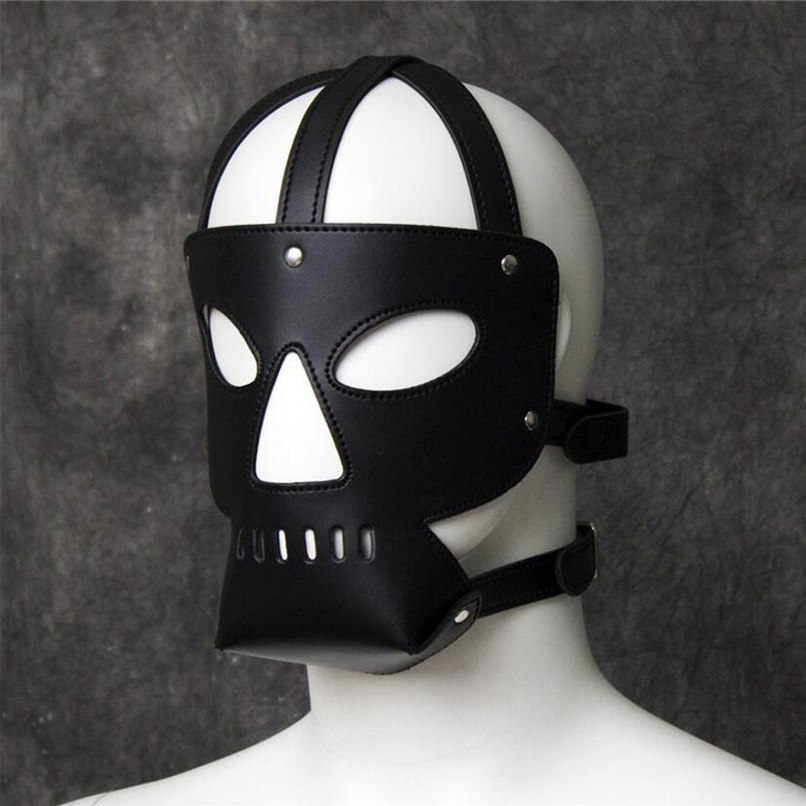 Fetish Cosplay Eye Mask Head Harness Sex Toys For Couples Bondage Restraint Sex Products Slave Mask Hood Adult Games Headgear