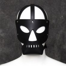 Fetish Cosplay Eye Mask Head Harness Sex Couples Bondage Restraint Products Slave Hood Games Headgear