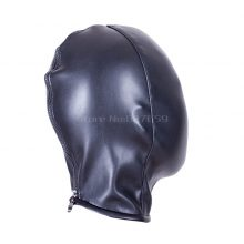PU leather Fetish Sex Mask BDSM Sex Toys For Couples Flirting BDSM Bondage Totally Enclosed Hood