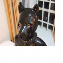 Extra Thickness 16mm Latex Rubber Fetish Animal Mask Back Zipper Puppy Slave Dog Hood Solid Nose